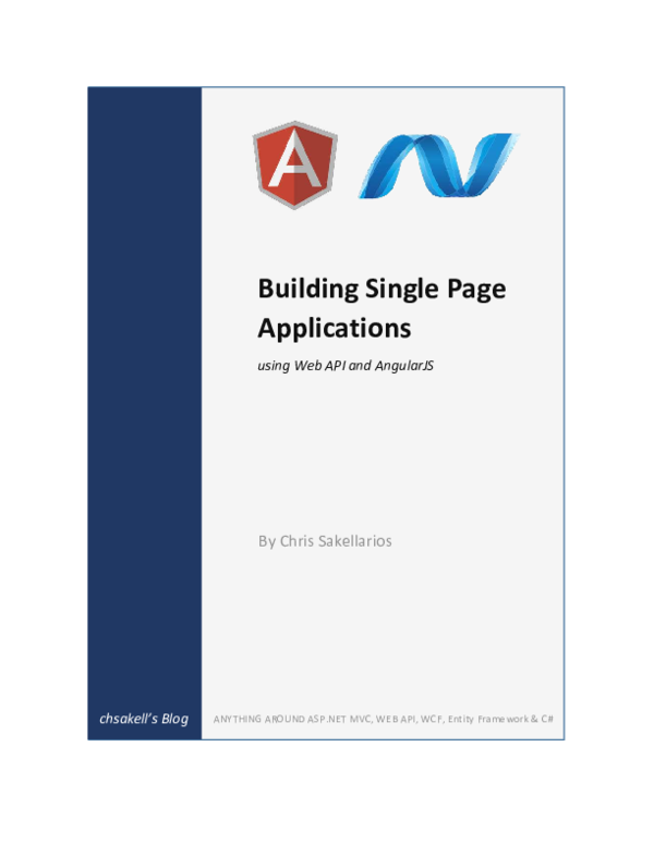 PDF) Building Single Page Applications using Web API and