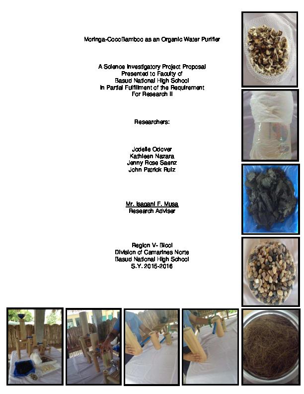 PDF) Moringa-CocoBamboo as an Organic Water Purifier | Jenny Rose