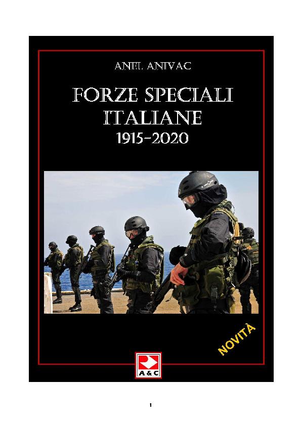 PDF) FORZE SPECIALI ITALIANE 1915 – 2020 - STORIA MILITARE ... 16d07302bafd