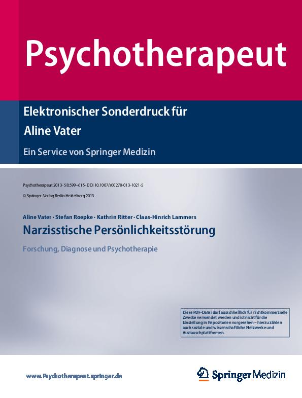 (PDF) Narzisstische Persönlichkeitsstörung | Aline Vater