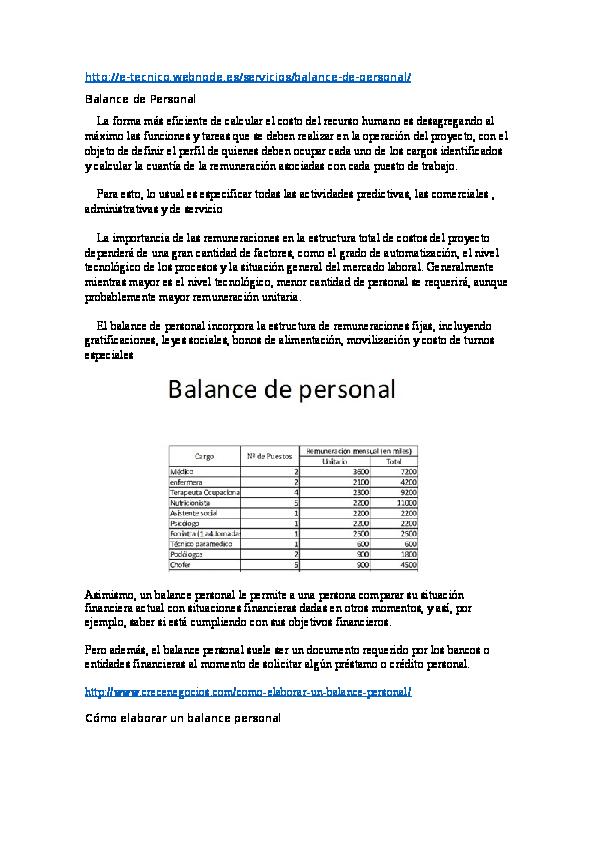Doc Balance De Personal Andrea Mora Academia Edu