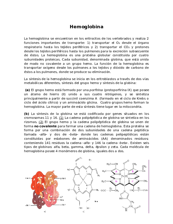 Doc Hemoglobina Caca Dfdf Academia Edu
