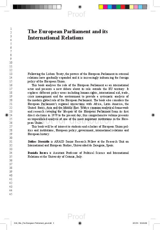 PDF) Laura Feliu (con Francesc Serra) (2015), 'The European Union as