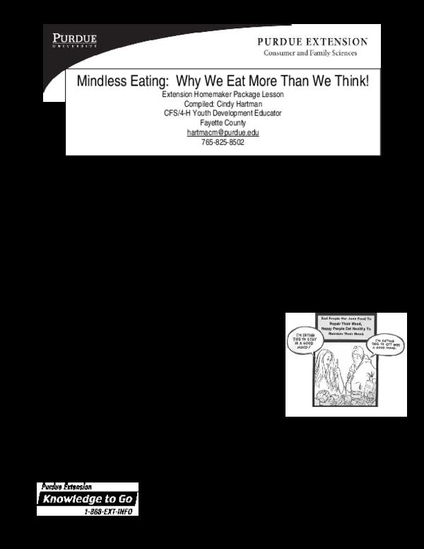 PDF) Mindless Eating | Tram Nguyen - Academia edu