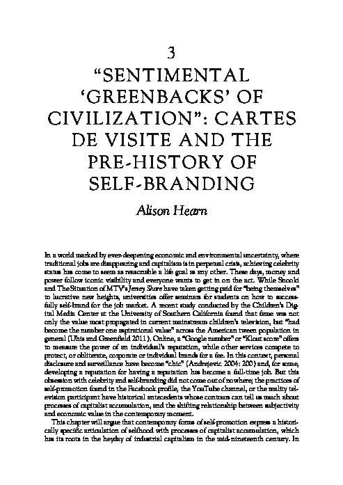 PDF Sentimental Greenbacks Of Civilization Cartes De Visite
