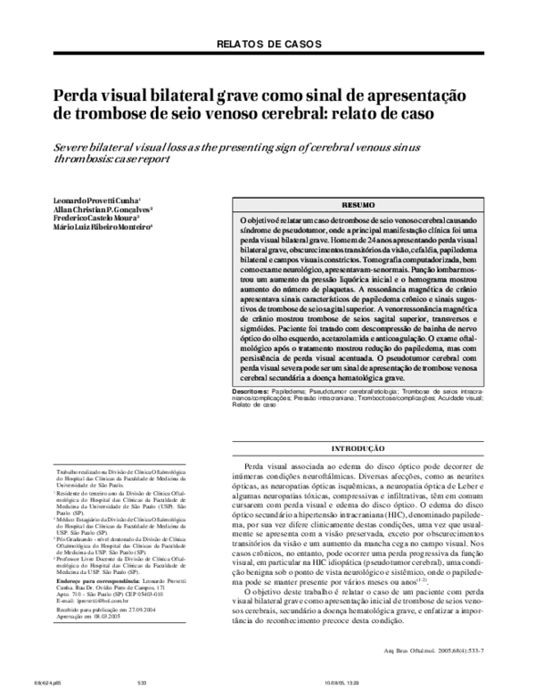 Acetazolamida para seudotumor cerebral