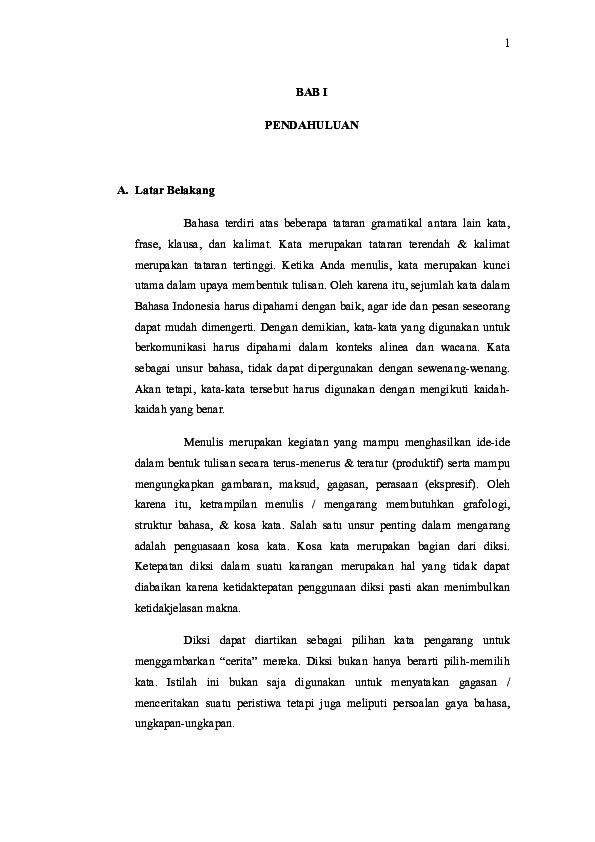 Doc Makalah Kalimat Diksi Alisha Damara Academia Edu
