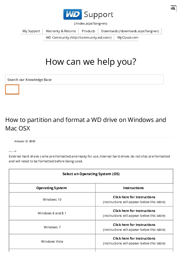 PDF) How to partition and format a WD drive on Windows and