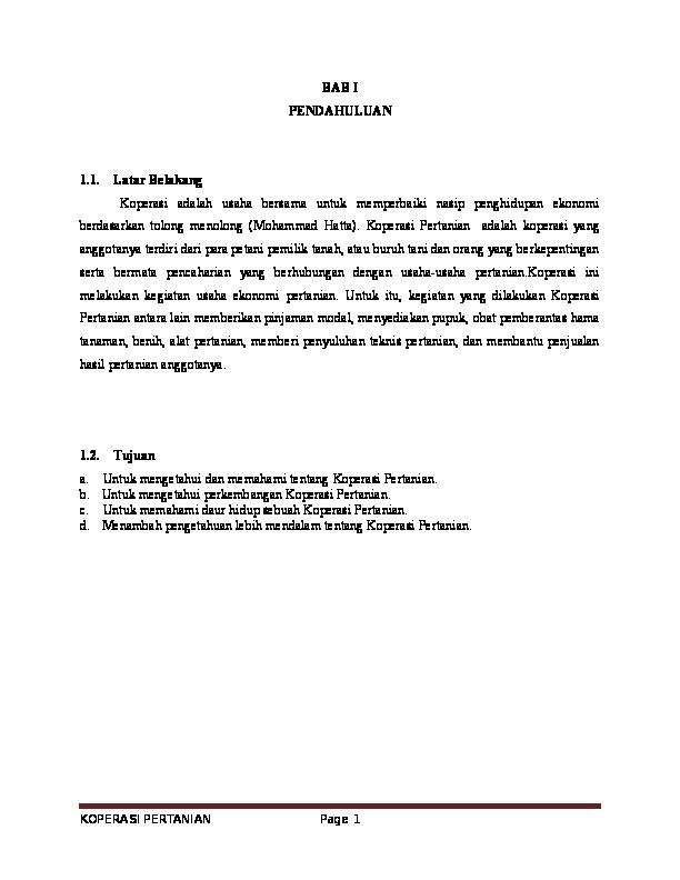 Doc Makalah Koperasi Pertanian Dwi Santoso Academia Edu