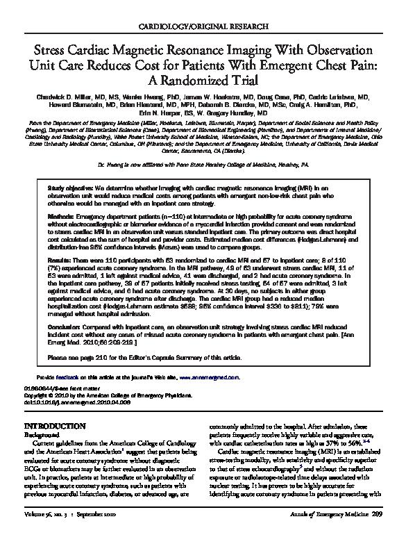PDF) Stress Cardiac Magnetic Resonance Imaging With