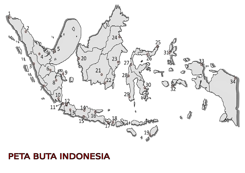Peta Indonesia Peta Buta Indonesia