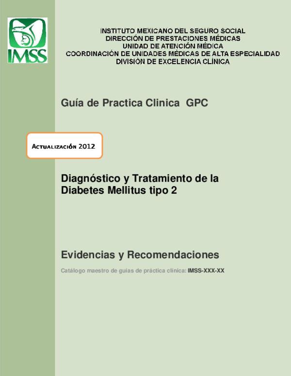 guia practica clinica diabetes tipo 1 imss logo