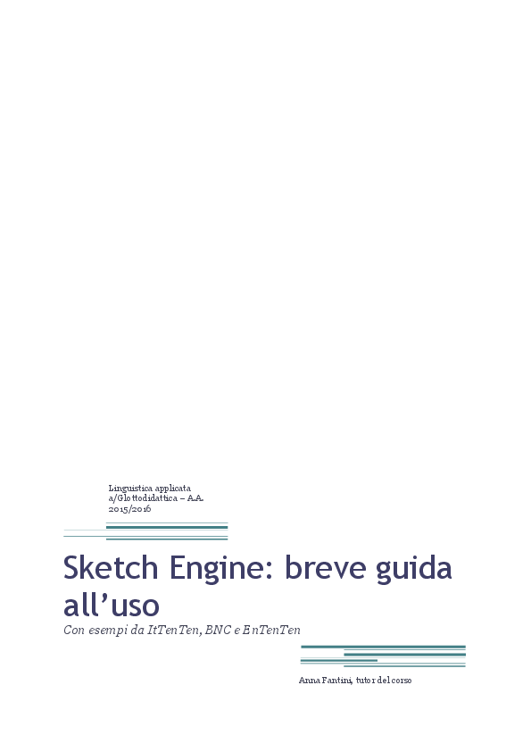 Sketch Engine Research Papers Academia Edu