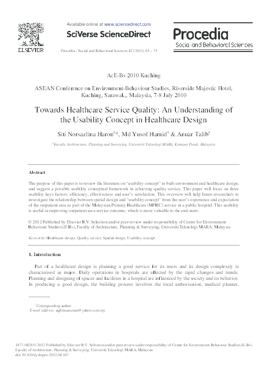 PDF) Towards Healthcare Service Quality: An Understanding of
