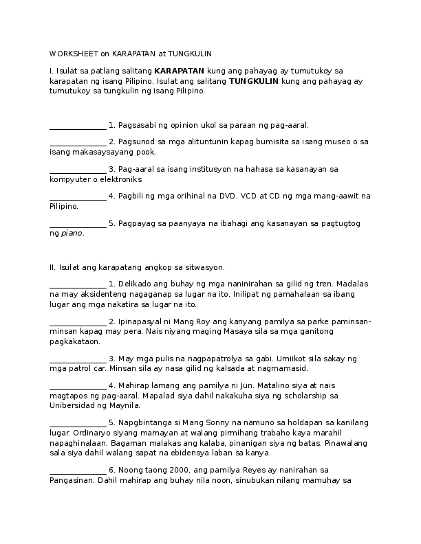 DOC) AP grade 3 karapatan at tungkulin | Cohlleen Ching