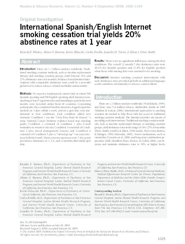 PDF) International Spanish/English Internet smoking