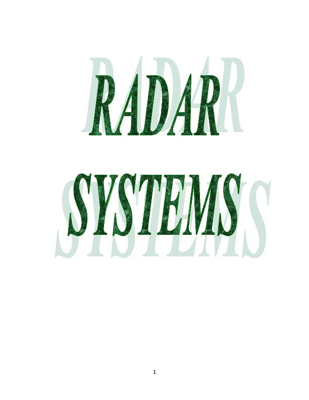 PDF) radar systems notes | Vijay Chandu Gonnabattula - Academia edu