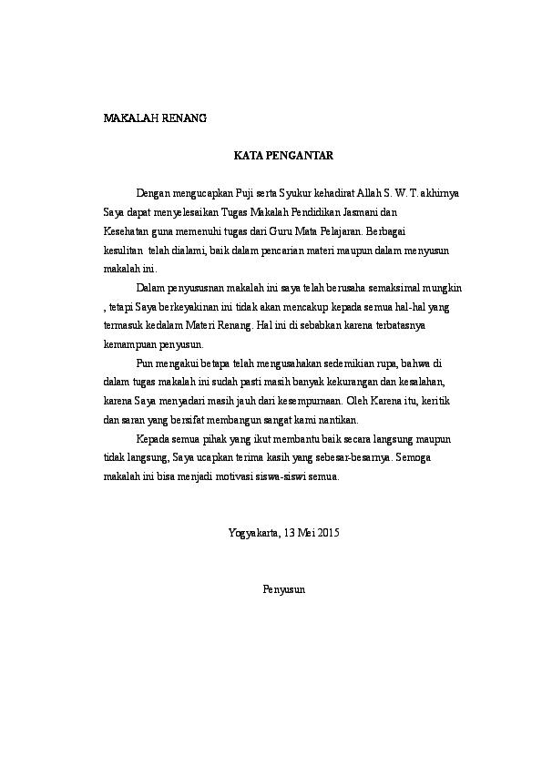 Doc Makalah Renang Tasya Bayu Jatmiko Academia Edu