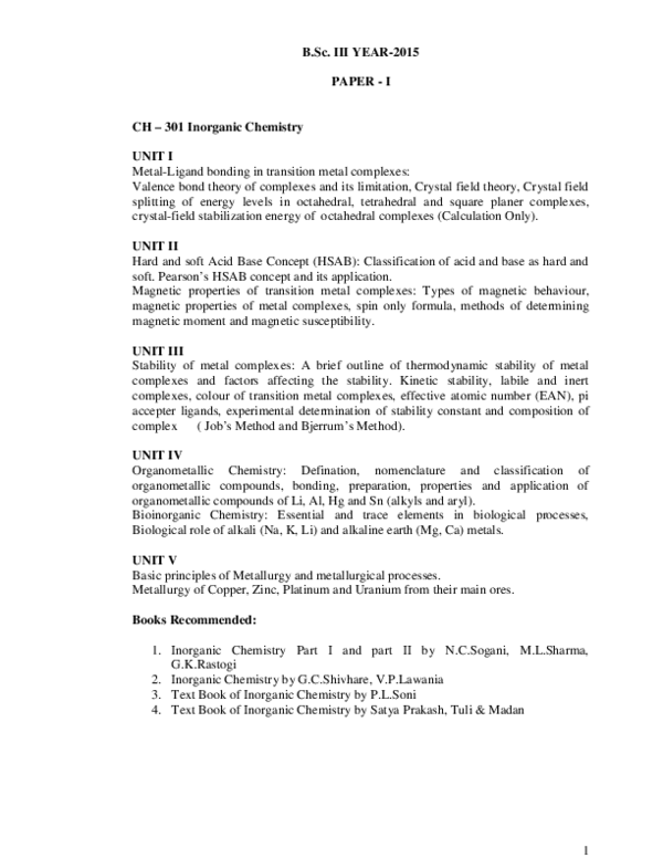 PDF) BSc Chemistry III 2015 | SHEETAL SHARMA - Academia edu