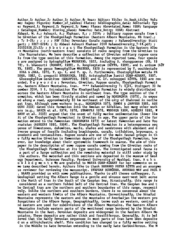 Datazione Canandaigua