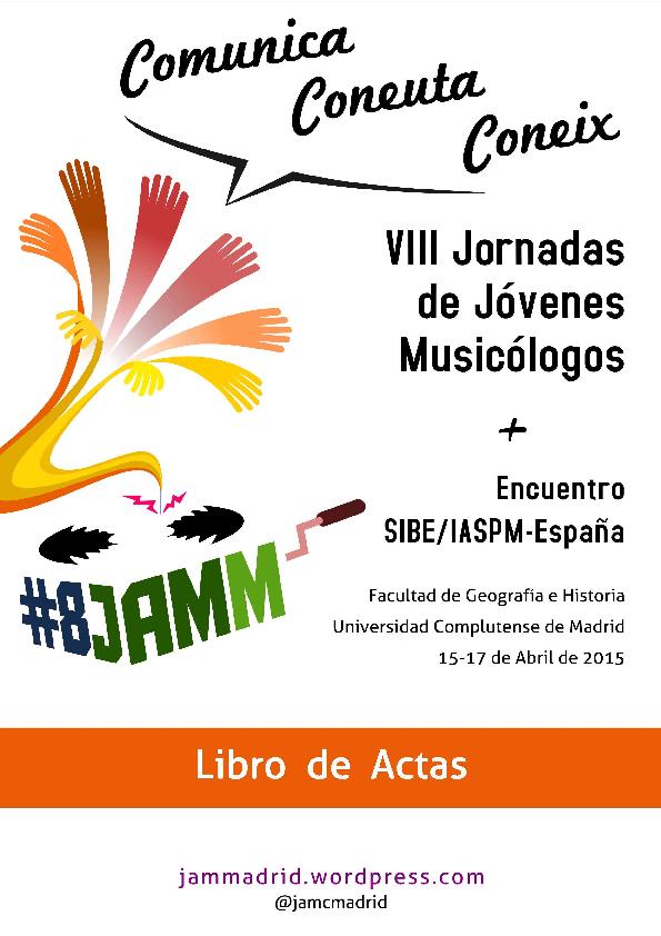VIII Jornadas de Jóvenes Musicólogos - Libro de Actas  5d94bd9d70e