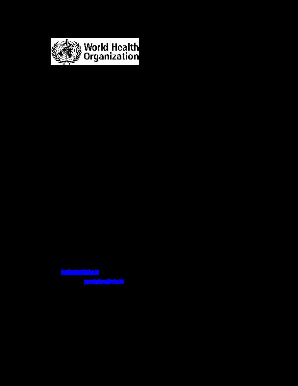 PDF) International Collaborative Study to evaluate and establish WHO