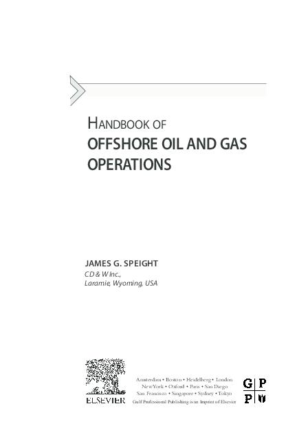 PDF) Handbook of Offshore Oil and Gas Operations   Mega Ocean Jaya