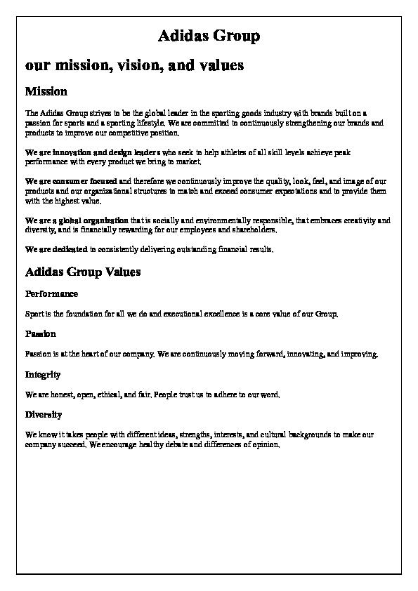 Elemental guerra Serena  DOC) Adidas Group | Madlen mahmoud - Academia.edu
