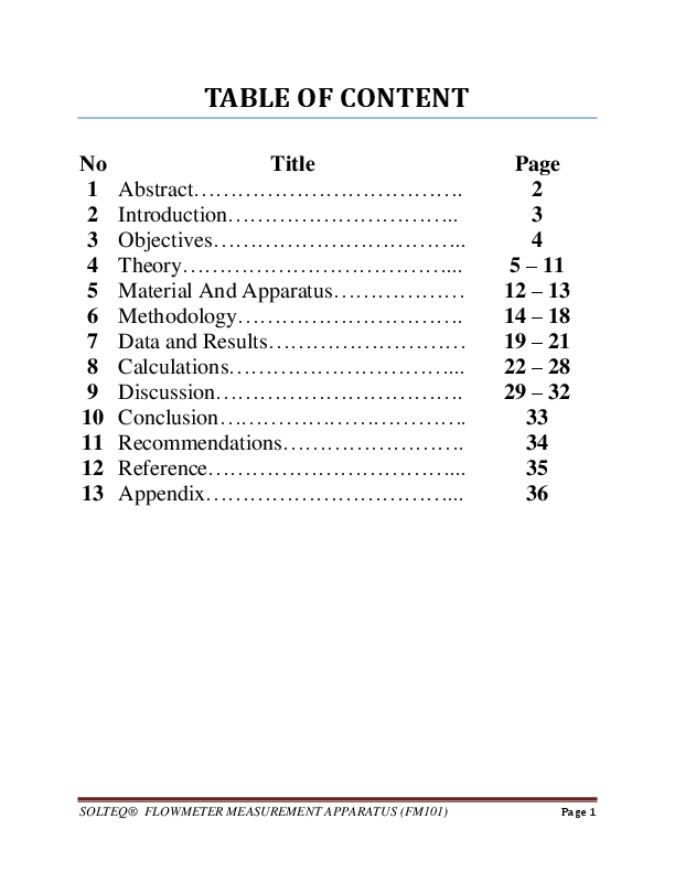 venturi meter lab report conclusion