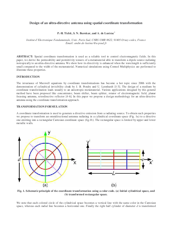 PDF) Design of an ultra-directive antenna using spatial
