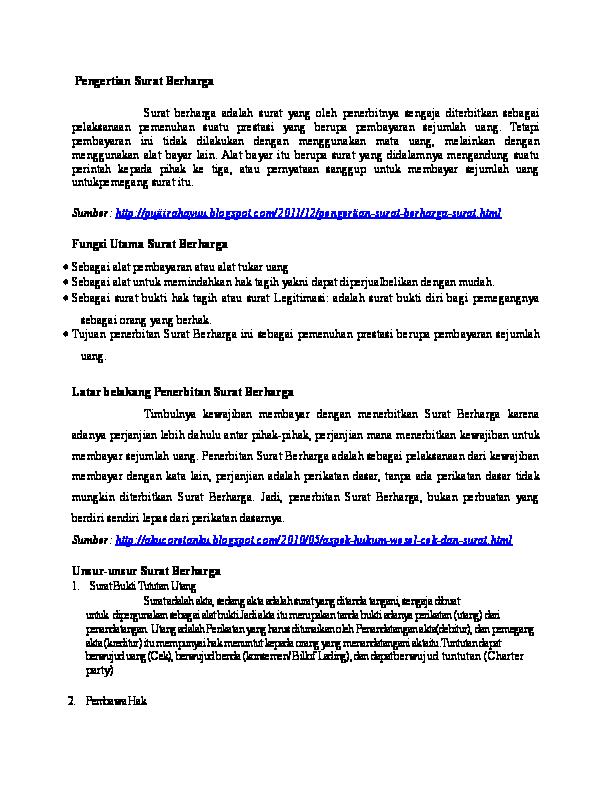 Doc Hukum Komersial Refi Cintya Academiaedu