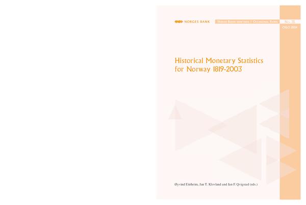 b2714276a9 PDF) Historical Monetary Statistics for Norway 1819-2003 | Jan ...