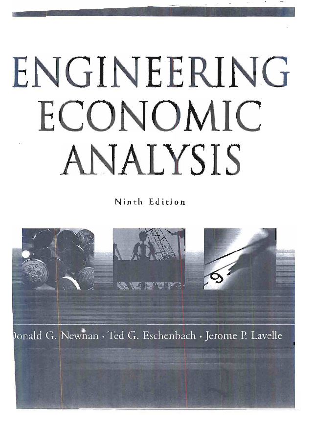 PDF) Engineering Economic Analysis || 9th Edition ||Donald G  Newnan