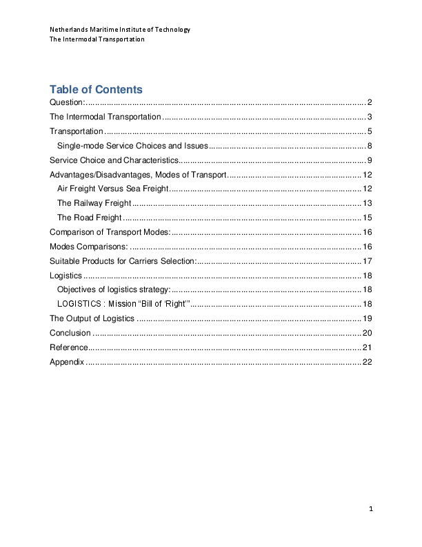 PDF) The Factors Influencing The Modes of Choice in