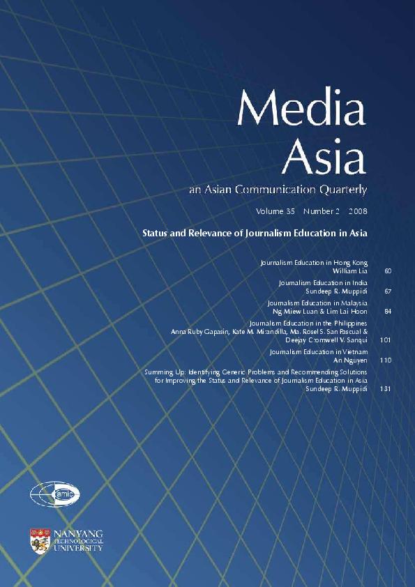 PDF) Journalism Education in Asia   Sundeep Muppidi - Academia edu