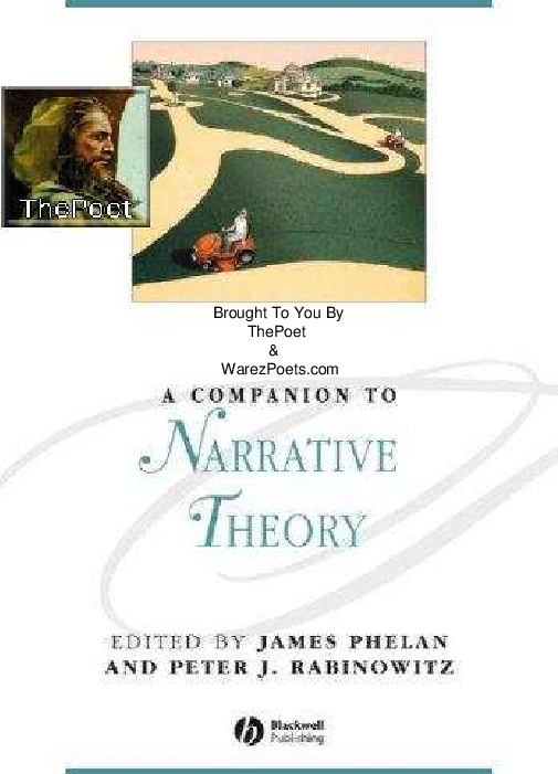 A Companion To Narrative Theory Domenic Beneventi Academia