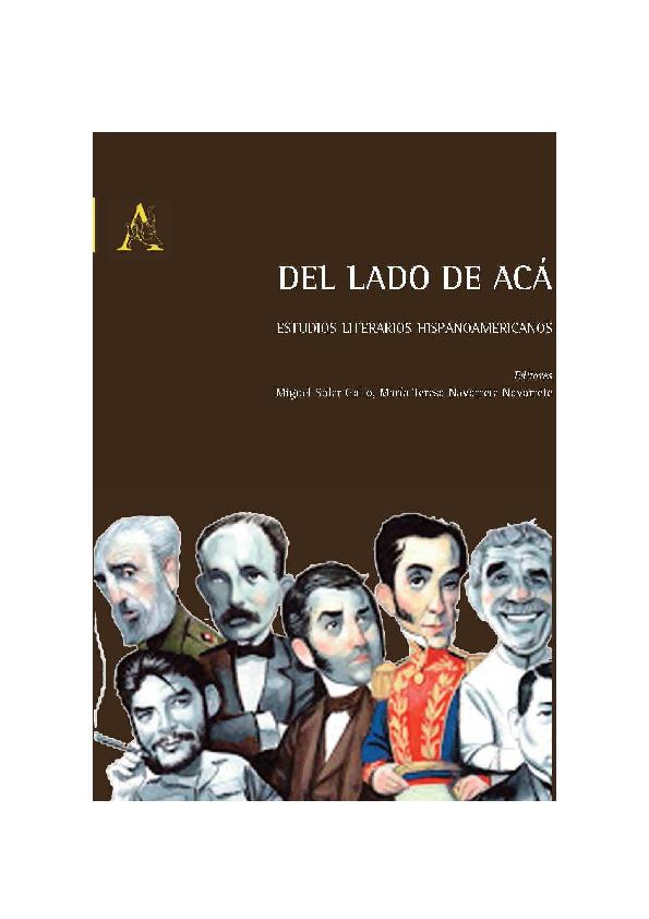 0d6d9c65cbc PDF) Del lado de acá. Estudios literarios hispanoamericanos ...
