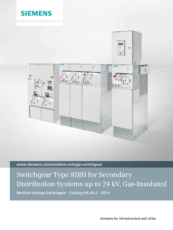 PDF) Catalog HA 40 2 Switchgear Type 8DJH for Secondary Distribution