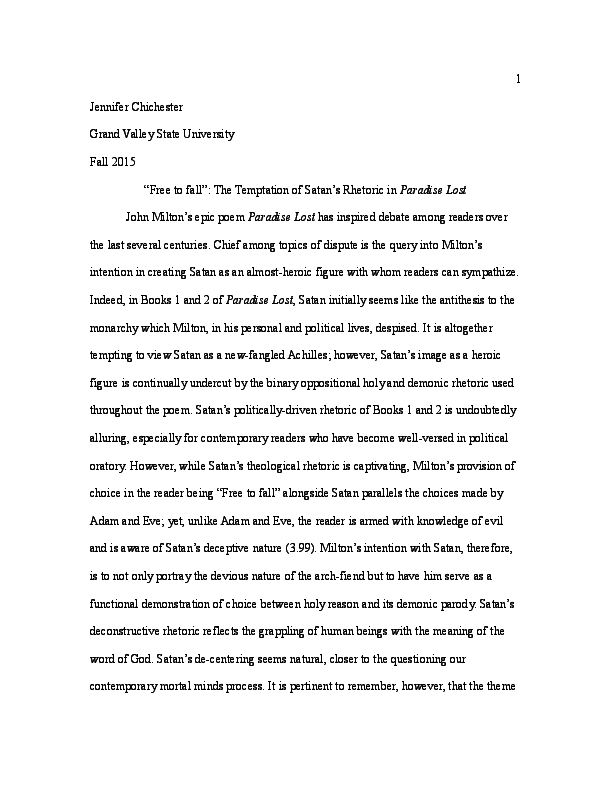 Jim Crow Laws Essay Docx  Essay On Pakistan Economy also Essays About Internet Free To Fall The Temptation Of Satans Rhetoric In Paradise Lost  Catcher In The Rye Literary Analysis Essay