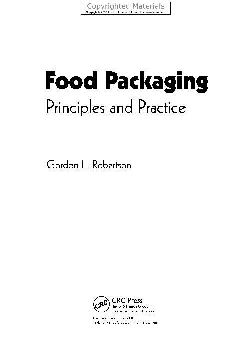 PDF) Food Packaging - Principles and Practice (3rd Edition