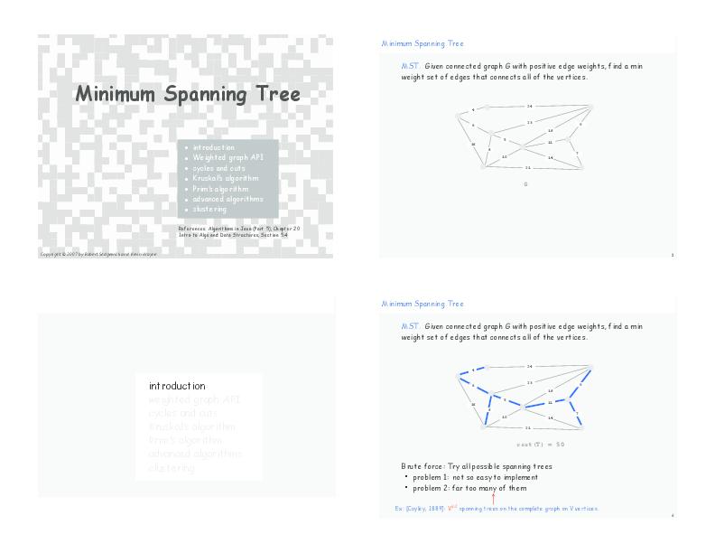 PDF) Minimum Spanning Tree | Lawrence Yau - Academia edu
