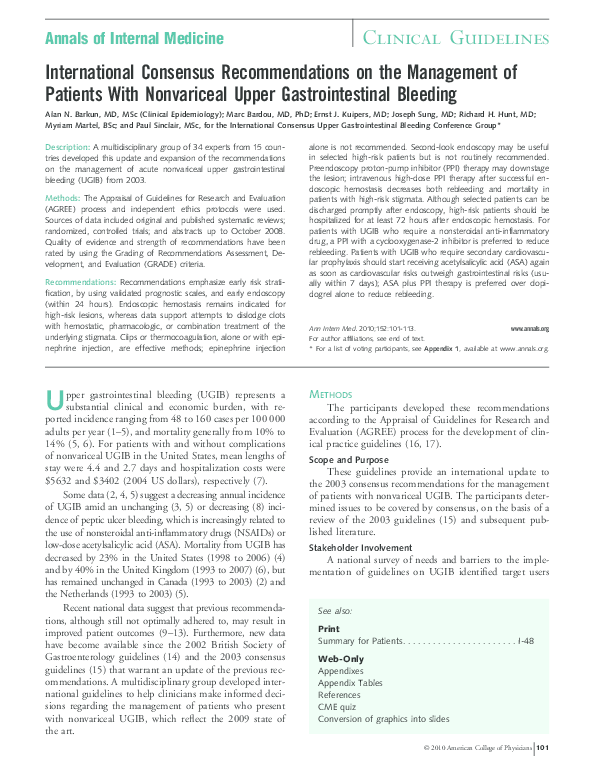 PDF) International consensus recommendations on the management of