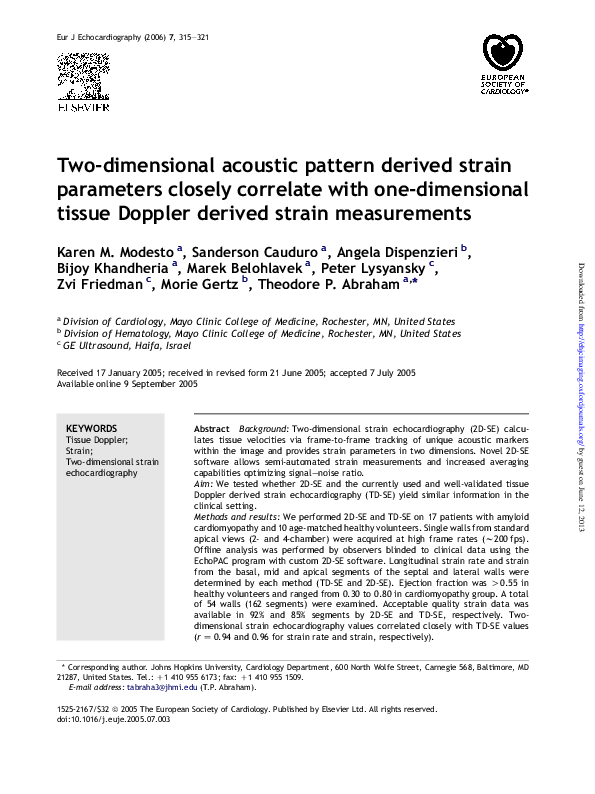 PDF) Two-dimensional acoustic pattern derived strain