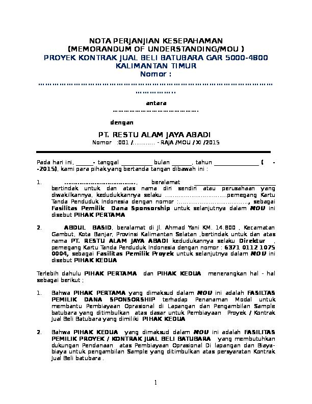 Doc Mou Pt Raja Hadi Bray Academiaedu
