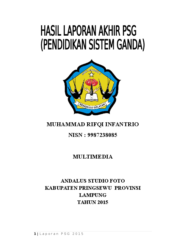 Contoh Laporan Prakerin Smk Jurusan Multimedia Kumpulan Contoh Laporan