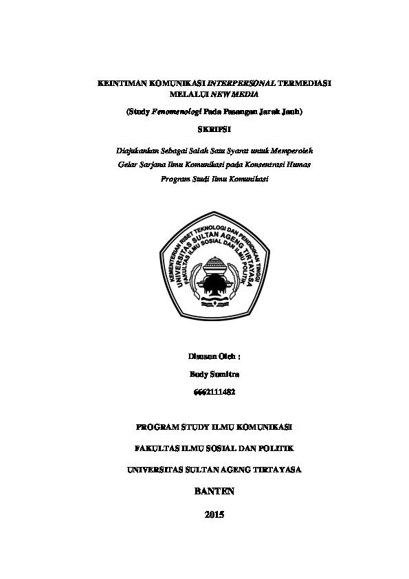 Judul Skripsi Komunikasi Kualitatif Fenomenologi Ide Judul Skripsi Universitas