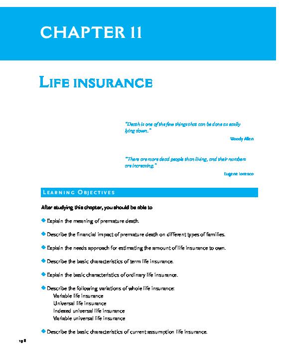 Pdf Chapter 11 Life Insurance Nhi Vũ Academia Edu