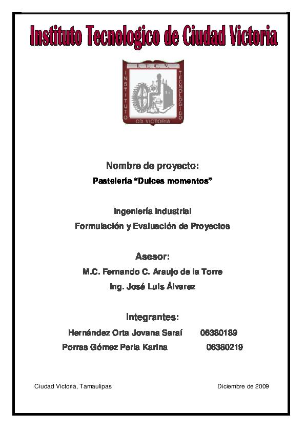 Pdf Proyecto Pasteleria 3 Roberto Kmell Espinoza