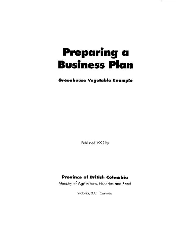 greenhouse proposal