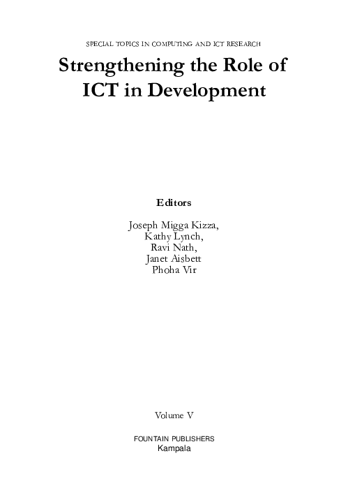 PDF) Strengthening the Role of ICT in Development | Vir